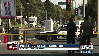 Police investigating shootout near Sunset and Eastern - Video