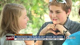 Transgender teen fights for military dream after President Trump's ban - Video