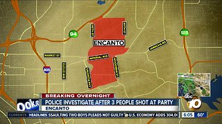 Three people shot at Encanto house party - Video