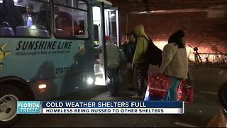 Shelter reaching capacity during cold snap - Video