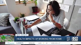 Health impacts of working from home