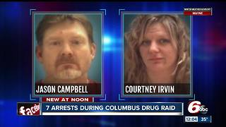 7 people arrested during Columbus drug raid - Video