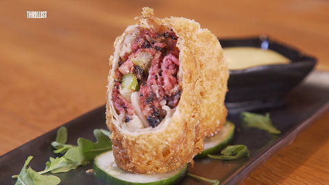 These Egg Rolls Are Stuffed With Katz's Pastrami