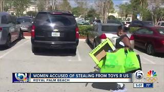 Women accused of stealing from Toys R Us in Royal Palm Beach - Video