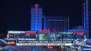 Bally's working to replace missing letter in sign - Video