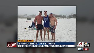 KU students on spring break rescue boy from water