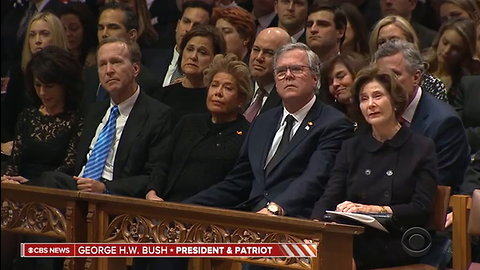 George W Bush Gets Emotional While Delivering Powerful Eulogy for His Father