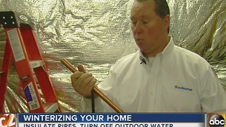 Tips on how to winterize your home - Video
