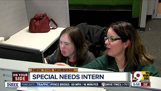 Intern with Down syndrome is helping LendKey grow - Video