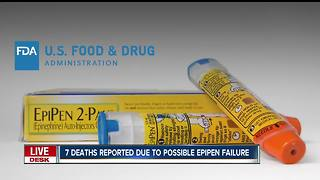 7 deaths reported due to possible Epipen failure - Video