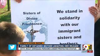 Family of detained mother waits for her release - Video