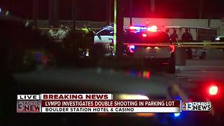 Double shooting in casino parking lot - Video