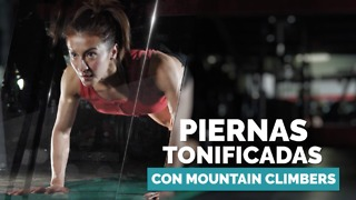 Piernas tonificadas con mountain climbers. - Video