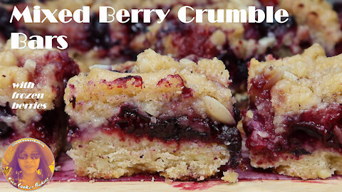 Mixed Berry Crumble Bars | Mixed Berry Crumble Pie | EASY RICE COOKER CAKE RECIPES