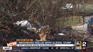 Neighbors fed up with chronic illegal trash dumping - Video