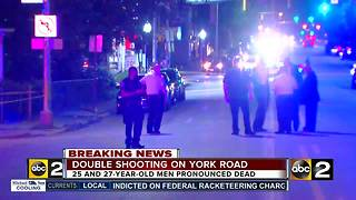 Two dead in double shooting on York Road - Video
