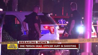 Suspect dead, officer hurt in shooting in Clearwater