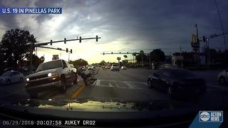 Pinellas Park Police looking for driver captured in video hitting bicyclist, before driving off - Video