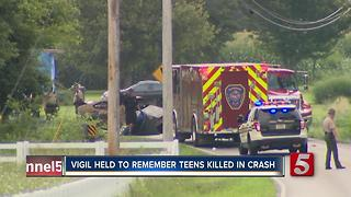 2 Students Killed In Crash; Vigil Held - Video
