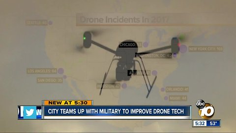 City of San Diego teams up with military to advance drone technology
