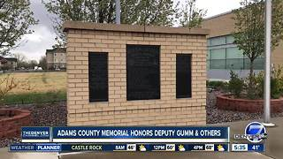 Adams County memorial honor Deputy Gumm, others - Video