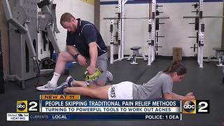 People skipping traditional pain relief methods - Video