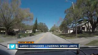 Largo City Council considers lowering speed limits on residential streets - Video