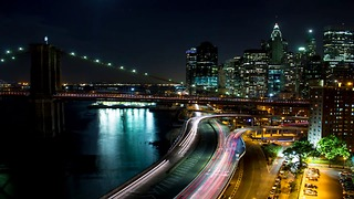 Timelapse of beautiful New York City at night - Video