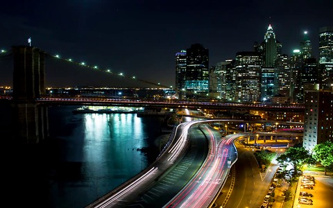Timelapse of beautiful New York City at night