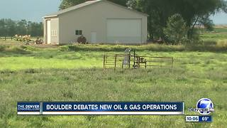 Boulder debates new oil and gas operations - Video