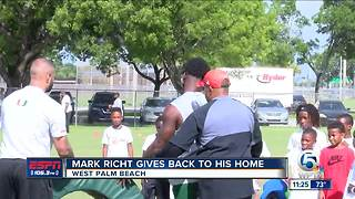 Miami Hurricanes hold youth camp in West Palm Beach - Video