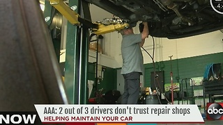 AAA study finds 2 out of 3 drivers don't trust auto repair shops - Video