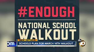 Schools plan for March 14 walkout - Video