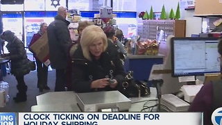 Clock ticking on holiday shipping deadline