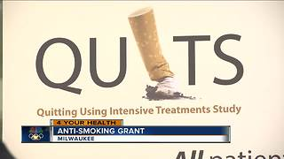 $7 million research grant helping people quit smoking - Video