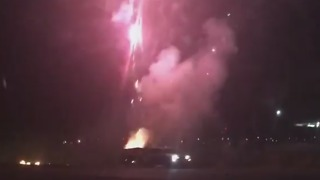 Trailer Filled With Fireworks Set Off Prematurely Near Freeway - Video