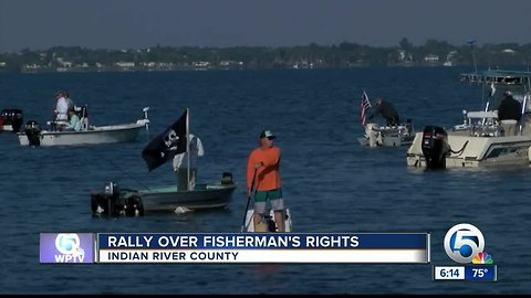 Rally held for fisherman who was harassed by Sebastian homeowner