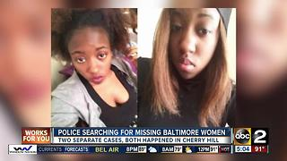 Still no answers in cases of three missing women in Baltimore - Video