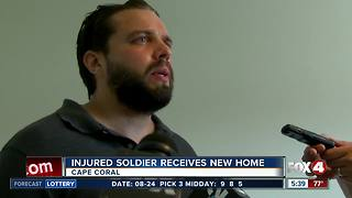 Southwest Florida veteran receives mortgage free home - Video