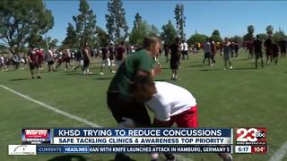 KHSD using safe tackling clinics & education to reduce concussions - Video