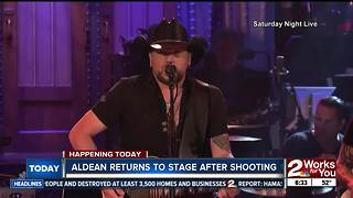 Jason Aldean resumes tour in Tulsa after Las Vegas shooting - Video