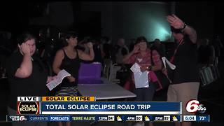 5 busloads of people are traveling from central Indiana to Hopkinsville, KY to view to total solar eclipse - Video