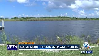 Social media threats over water crisis