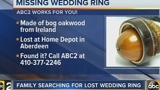 Family looking for missing wedding ring