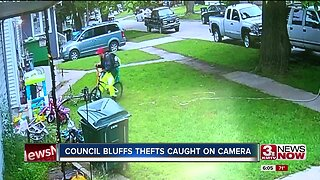 Council Bluffs thefts caught on camera