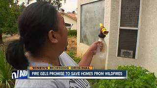 Fire gels protect homes during West Fire - Video