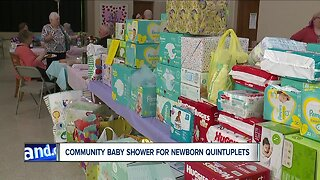 Barberton holds community baby shower for new parents of quintuplets