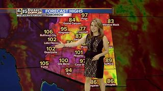 Chance for scattered storms in Valley - Video