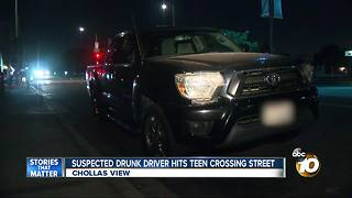 Teen hit by suspected drunk driver - Video