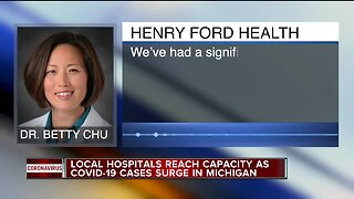 Local hospitals reaching capacity